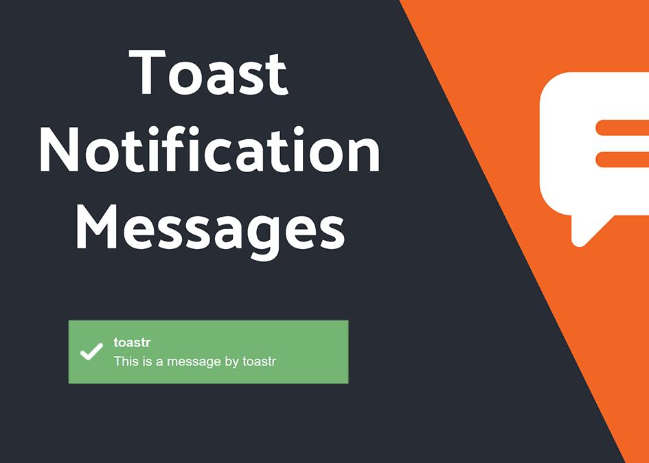 Adding Toastr Notifications in Laravel